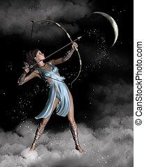 Diana (Artemis) the Huntress - Diana the Ancient Roman...