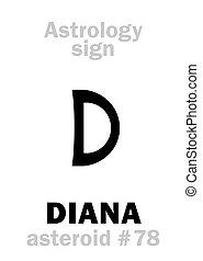 diana, astrology:, astéroïde