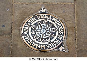 London - Diana Memorial Walk marking in London, UK