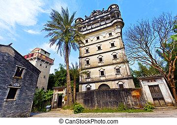 diaolou,  kaiping, eredità, luogo, mondo, Cina,  Unesco