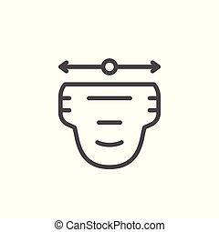 Diaper size line icon
