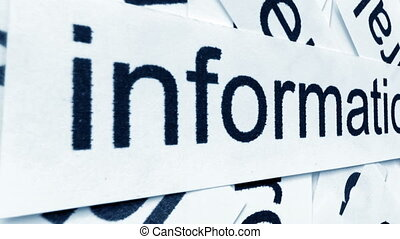 diapo, étiquette, appareil photo, information