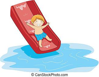 diapo, piscine