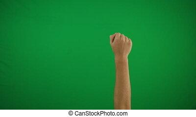 diapo, toucher, fin, pack., 20, chroma, arrière-plan., multitouch, écran, projection, vertical, gestes, zoom, clã©, screen:, horizontal, main, défilement, homme, déclic, haut, vert