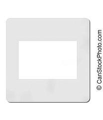 diapositiva, 35 mm, blanco