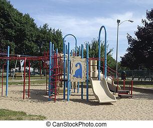 diapositiva, parque
