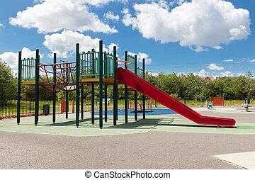 diapositiva, patio de recreo