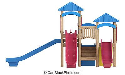 diapositive, apparecchiatura, campo di gioco