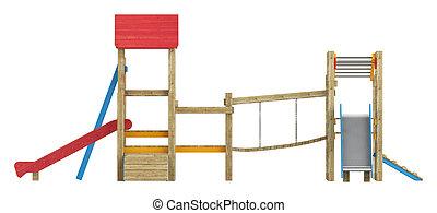 diapositive, campo di gioco, apparato