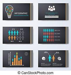 diapositives, vecteur, présentation, gabarit
