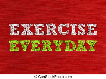 diario, ejercicio