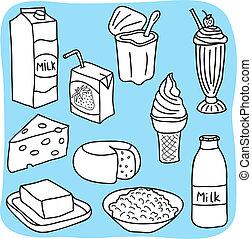 diario, prodotti, latte