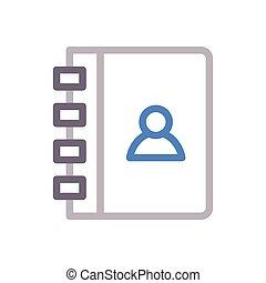 diary  color line icon
