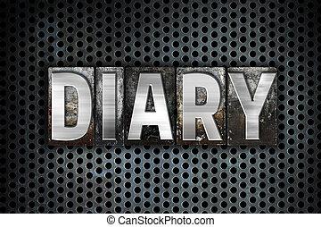 Diary Concept Metal Letterpress Type