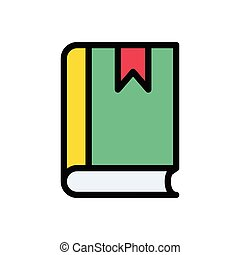 diary flat color icon
