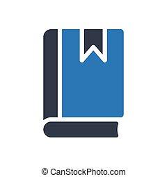 diary glyph color icon