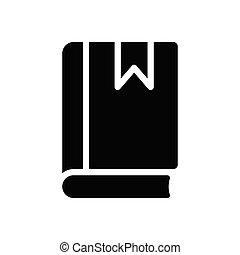 diary glyph flat icon