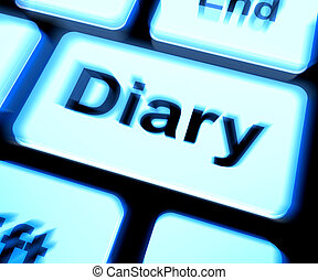 Diary Keyboard Shows Online Planner Or Schedule