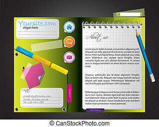 Diary-like website template design