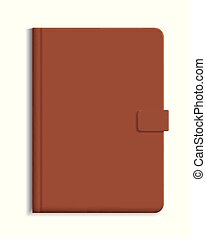 Diary or notebook in hard leather cover