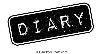 Diary rubber stamp