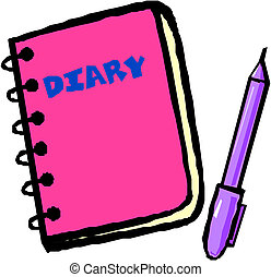 diary vector illustration