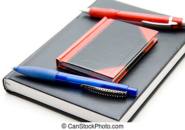 Diary with ballpoint pen
