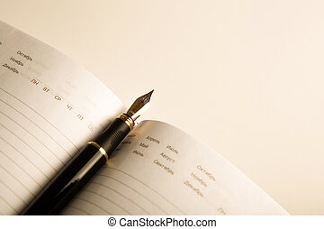 diary with fountain pen 10 - diary with fountain pen on ...
