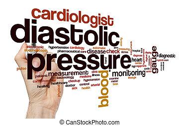 Diastolic pressure word cloud concept