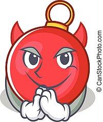 diavolo, carattere, palla natale, cartone animato