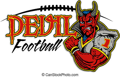 diavolo, disegno, football