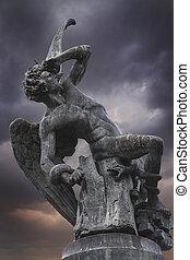 diavolo, scultura, madrid, spagna