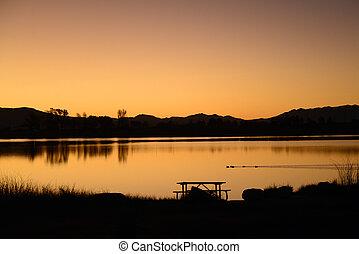 Diaz Lake Sunset