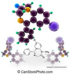Diazepam molecule structure
