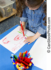 dibujo, en, guardería infantil