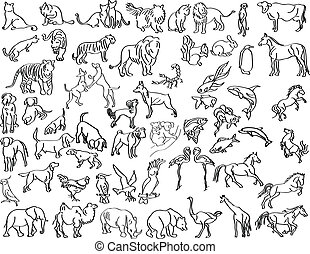 dibujos, animales