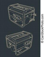 dibujos, generador portable