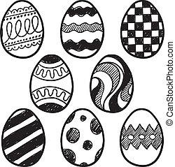 dibujos, huevo de pascua