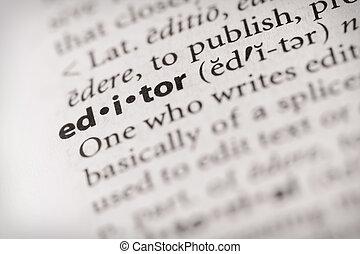 diccionario, miscellaneous:, -, serie, redactor