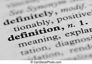diccionario, serie, -, definición