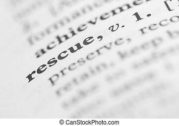 diccionario, serie, -, rescate