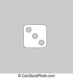dice 3 computer symbol