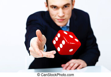 Dice as symbol of risk and luck