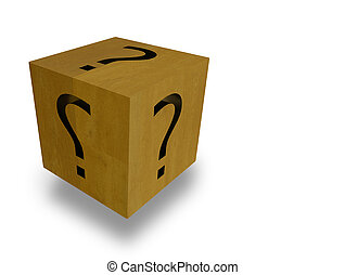dice colors  feeling psychology question mark  black - 3d rendering