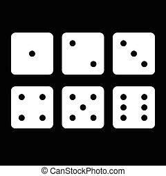 dice cubes illustration
