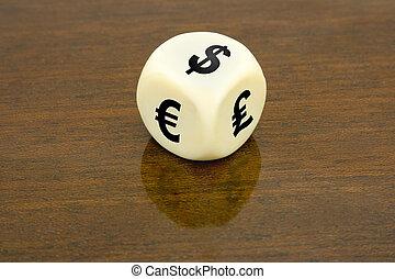 Dice (dollar, euro, pound)