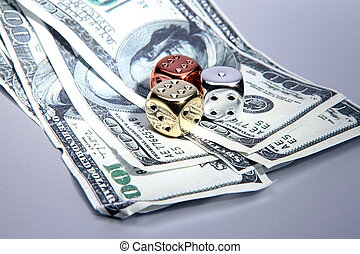 dice dollars money risk