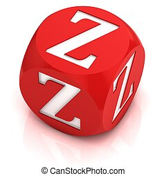 dice font letter Z 3d illustration