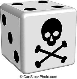 Dice game danger in 3D