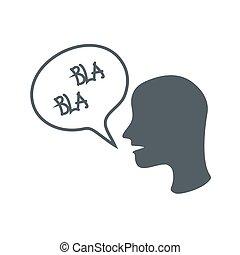 dice, hombres, blah, vector, blah., anónimo, icono